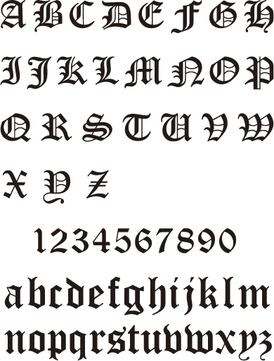 Old English Fonts for Tattoos
